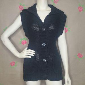Free People Black Sweater Vest Size Medium